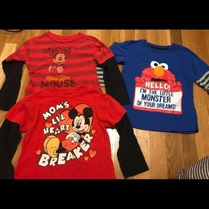 Lot of 3 character tees size 4t